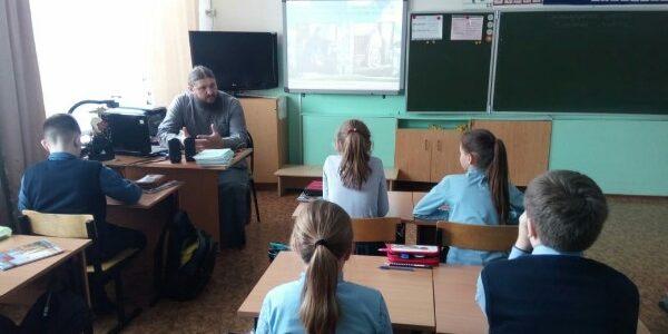 11 марта в 4-м классе Александровской школы прошёл урок на тему «О монастырях и монашестве»
