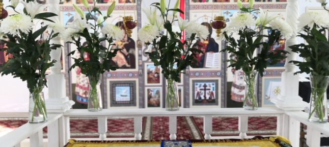 Подготовка к Пасхе в храме с. Глебово