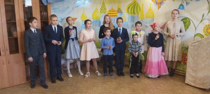 5 мая в Воскресной школе Ильинского храма села Дядьково состоялся Пасхальный концерт